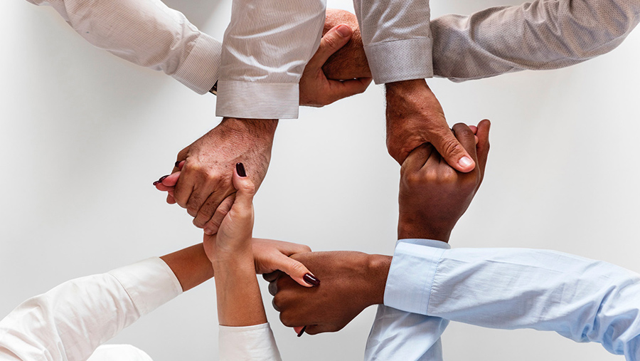 The importance of team work and holding hands