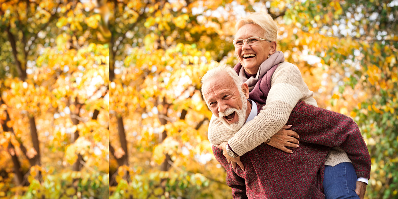 Older couple still having fun as much as they did when young