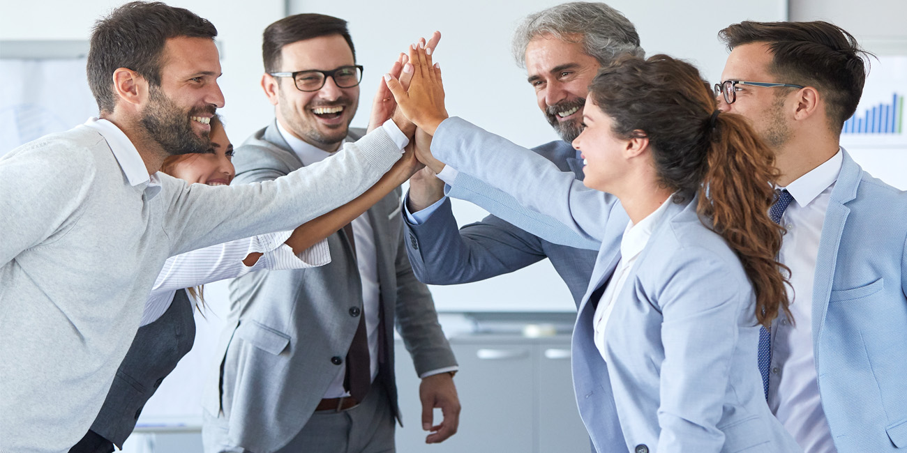 Professionals Expressing Positive Energy
